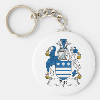 Pitt Family Crest Keychain