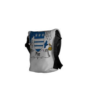 Pitt Family Crest Messenger Bag