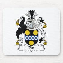 Pitt Family Crest Mousepad