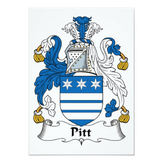 Pitt Family Crest Personalized Invitation