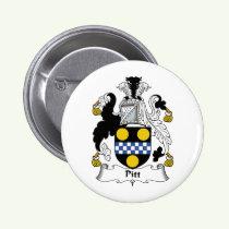Pitt Family Crest Button