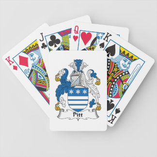 Pitt Family Crest Playing Cards