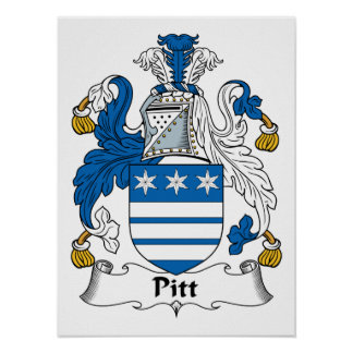 Pitt Family Crest Posters