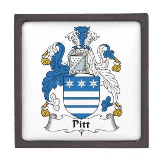 Pitt Family Crest Premium Keepsake Box