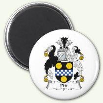 Pitt Family Crest Magnet