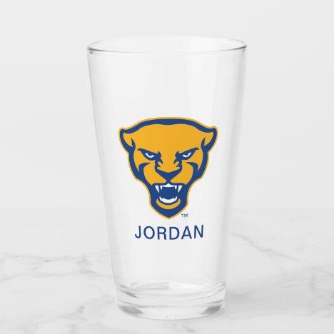 Pitt Panthers Logo Glass
