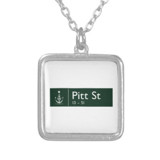 Pitt Street, Sidney, Australian Street Sign Necklace