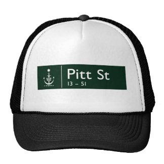 Pitt Street, Sidney, Australian Street Sign Trucker Hat