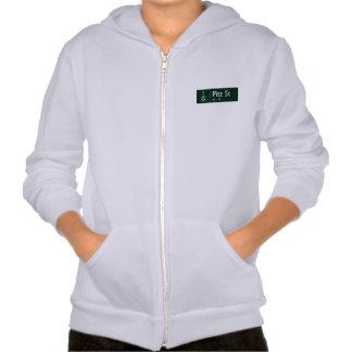 Pitt Street, Sidney, Australian Street Sign Hooded Sweatshirt