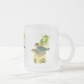 Pitta azul taza de cristal