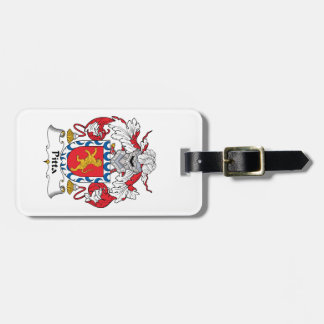 Pitta Family Crest Luggage Tag