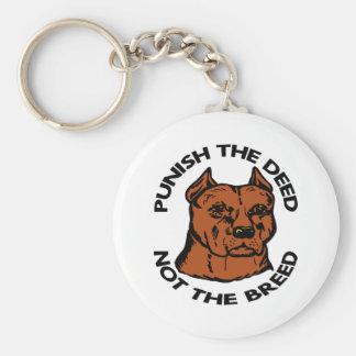 Pittbull Punish Deed Not Breed Basic Round Button Keychain