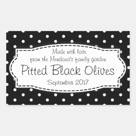 Pitted Black Olives food label sticker