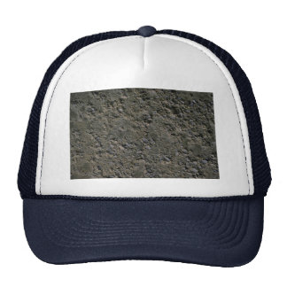 Pitted concrete mesh hats