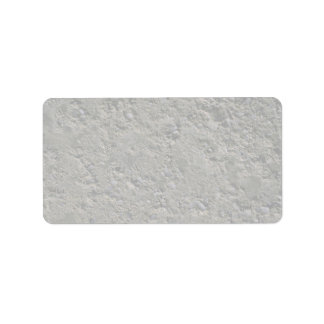 Pitted concrete label