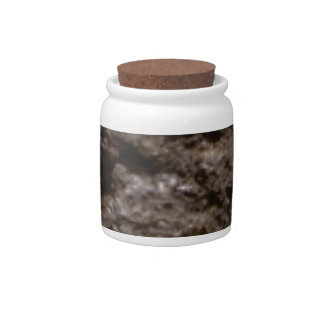 pitted rock texture candy jars