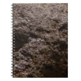pitted rock texture notebook
