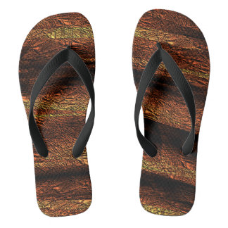 Pitted Wood Flip Flops