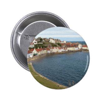 Pittenweem Harbour Scotland 2 Inch Round Button