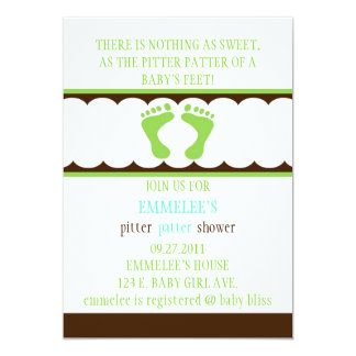Pitter-Patter Invitation