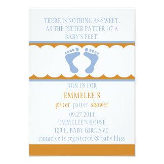 Pitter-Patter Invitation