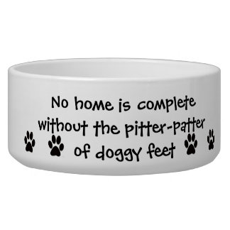 Pitter Patter of Doggy feet Pet Food Bowls