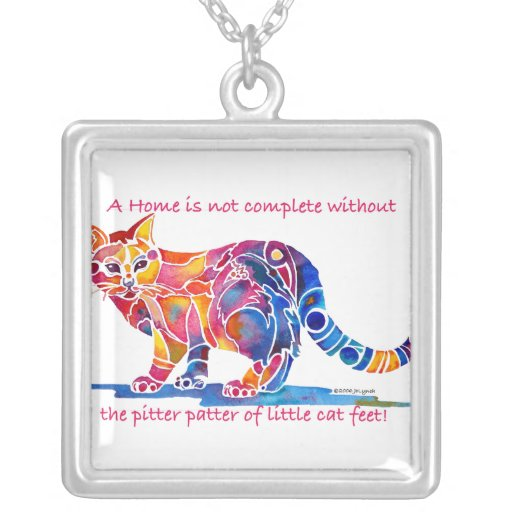 Pitter Patter of Little Cat Feet Custom Necklace