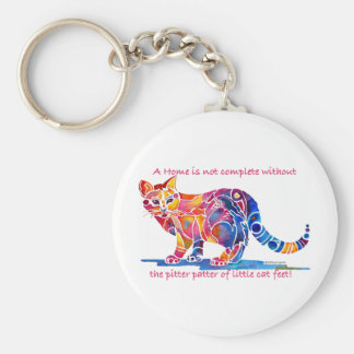 Pitter Patter of Little Cat Feet Key Chain