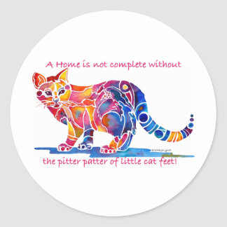 Pitter Patter of Little Cat Feet Sticker