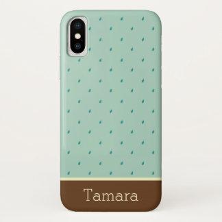 Pitter-Patter Raindrops Monogram iPhone X Case