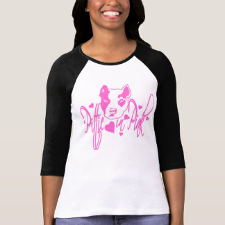 Pittie in Pink 1/4 sleeve Jersey Tshirts