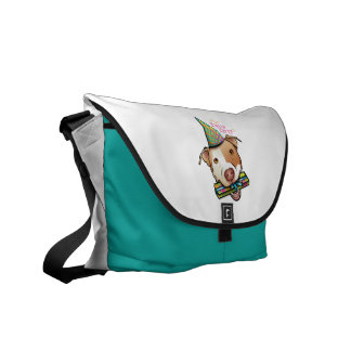 Pittie Party Courier Bag