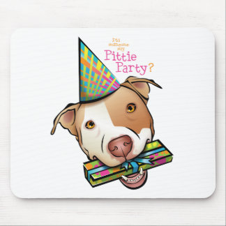 Pittie Party Mouse Mat