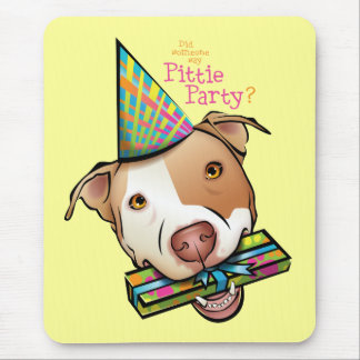 Pittie Party Mouse Pad