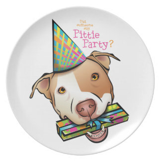 Pittie Party Plate