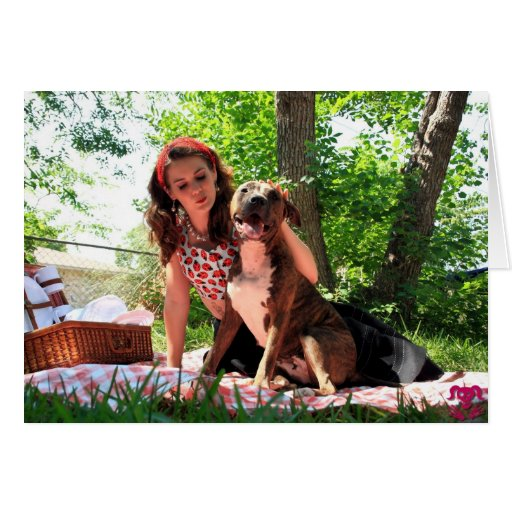 Pittie Picnic Greeting Cards