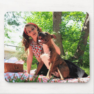 Pittie Picnic Mouse Pad