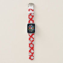 """Pittie Pittie Please!"" Dog Drawing Pattern Apple Watch Band"