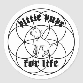 Pittie Pups for Life sticker