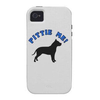 ¡PITTIE YO! - PERRO DIVERTIDO DE PITBULL iPhone 4 FUNDA