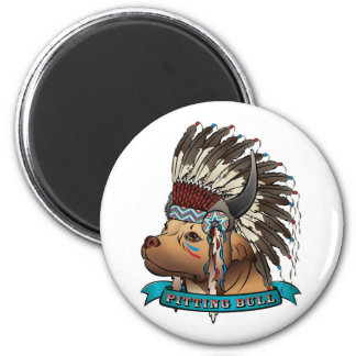 Pitting Bull 2 Inch Round Magnet
