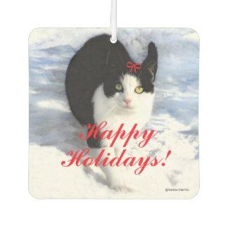 """Pittipat Happy Holidays"" Air Freshener"