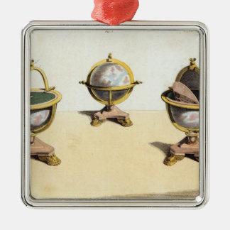 Pitt's Cabinett Globe Writing Table Metal Ornament