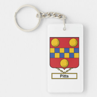 Pitts Family Crest Keychain