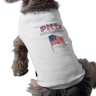 Pitts for Congress Patriotic American Flag Doggie Tshirt