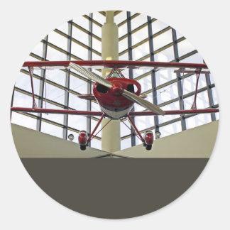 Pitts Special Aerobatics Plane Classic Round Sticker