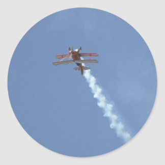 Pitts Special, Flying Upside Down Classic Round Sticker