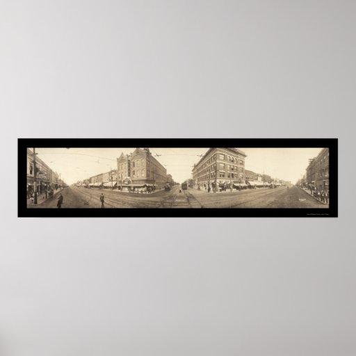 Pittsburg, foto 1909 de KS Póster