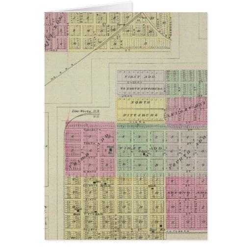 Pittsburg, nuez, Beulah, y Lichfield, Kansas Tarjeta