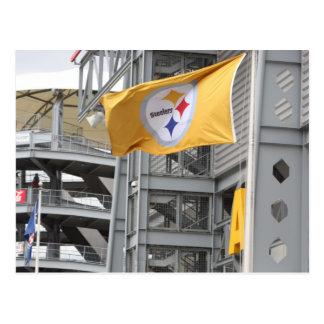 pittsburg steelers flag postcard